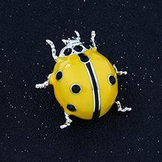 Желтая Божья коровка. Брошь ~ 280 руб.    http://ali.pub/16susy