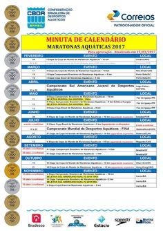 FRANCISSWIM - ESPORTES AQUÁTICOS: CBDA PUBLICA MINUTA DE CALENDÁRIO DE ÁGUAS ABERTAS...