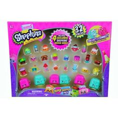 Shopkins Season 5 Super Shopper Pack, Includes 4 Exclusive Shopkins Hidden Inside - Characters May Vary (32 Pieces)