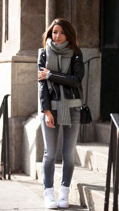 Grey friday by Lovely Pepa #NikeAirForce #GasJeans #Zara #Mango #ChanelBoy @flinkhq #ootd #fashion #love #fashionblogger #flinkhq