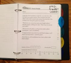 RTI Reading Fluency Binders for reading passages