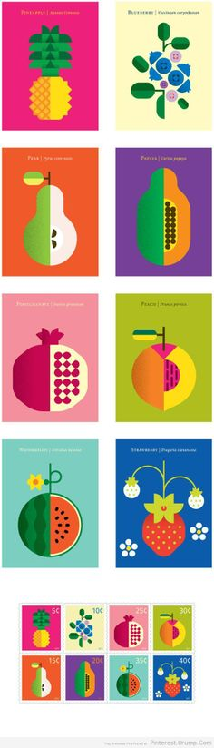 Fruit Poster Illustrations by Christopher Dina – WE AND THE COLOR