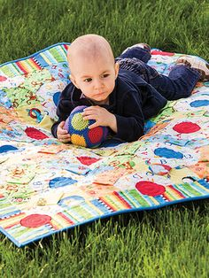 It Takes Three pattern book, available from Annie's, includes this baby quilt. Order here: https://www.anniescatalog.com/detail.html?prod_id=112394&cat_id=1422