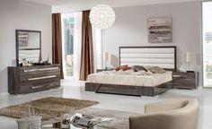 Schlafzimmer Set in Creme Weiß Eiche mit Doppelbett (4-teilig) Jetzt ...