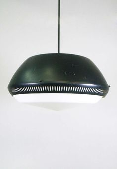 Gino Sarfatti; Enameled Metal and Perspex Ceiling Light for Arteluce, c1958.