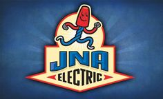 Retro logo design and mascot for an electrician in British Columbia.