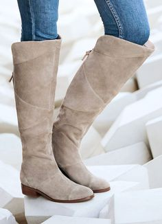 Suede over-the-knee boot with back zipper | Sole Society Tiff