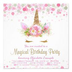Rainbow unicorn party invitation printed unicorn birthday unicorn face unicorn birthday party invitations stopboris Choice Image
