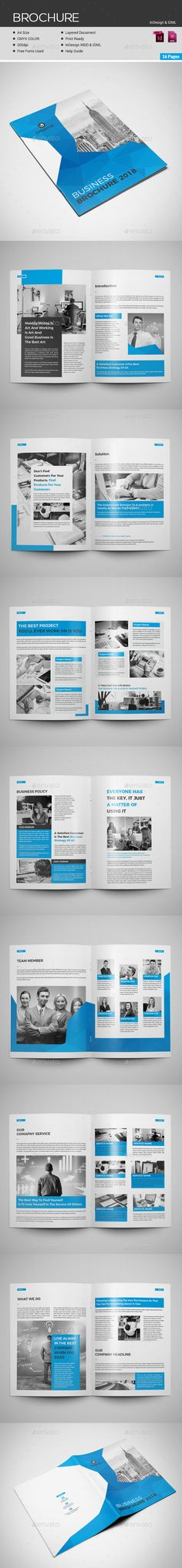 8 Page Brochure Brochures Brochure Template And Template