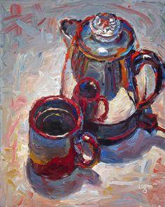 "Raymond Logan's  10"" x 8"" oil on canvas"