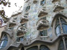 Casa Batllo  - the most beautiful Gaudi's house! Passeig de Gracia 43 One of 2 houses by Gaudí in Barcelona that can be toured.  truly amazing and worth the visit.  go in the mornings, before the site gets crowded