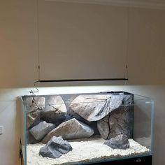 Another aquarium is ready for some Malawi fish Custom Aquariums, Kids Aquarium, Aquarium Maintenance, Aquarium Backgrounds, How To Focus Better, Aquarium Lighting, Types Of Fish, Aesthetic Value, Freshwater Aquarium