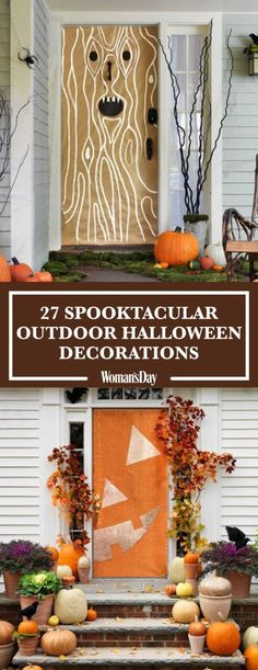 30 spooktacular outdoor halloween decorations - Cute Halloween Door Decorating Ideas