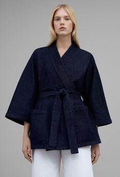 COS belted denim kimono style jacket curated by ajaedmond.com | capsule wardrobe | minimal chic | minimalist style | minimalist fashion | minimalist  wardrobe | back to basics fashion