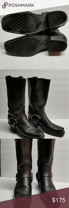 Frye 12R Harness Boots Motorcycle boots Black Leather. NWOT. Great for those weekend rides. Frye Shoes Combat & Moto Boots