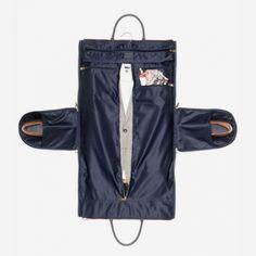 Hook + Albert, Waxed Canvas Garment/Weekender Bag, Gray