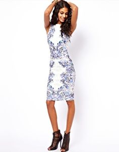 ASOS Body-Conscious Dress In Tattoo Print.... Interview dress?