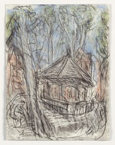 Leon Kossoff Arnold Circus, 2008-2010 charcoal and pastel on paper 25 3/4 x 19 5/8 in. (65.3 x 50 cm)