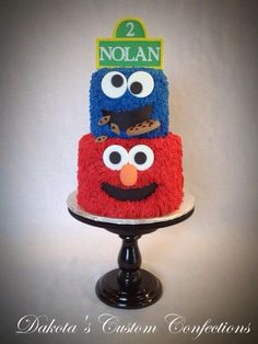 Sesame Street Birthday Cake - parties at the Center for Puppetry Arts, Atlanta, GA