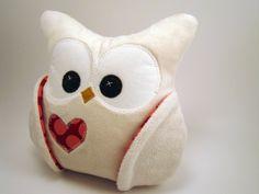 Chubby Minky Plush Owl Amy Butler by aprilfoss on Etsy