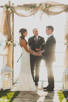 Burlap wedding decor                                                       …