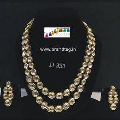 Royal elegan kundan necklace set...!!! - Royal elegant full kundan studded two layered necklace set...!!!