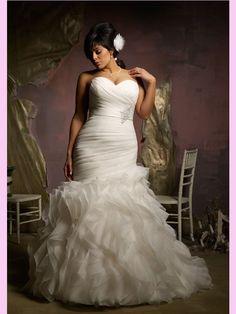 #Plus #Size #Wedding #Dress, #Fat Style #Bride Gown ,#Bridal Dress, #Fashion