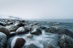 niebla, piedras, frío, nieve, nubes, agua, Fondos de Pantalla HD - professor-falken.com