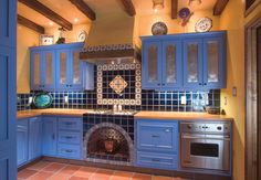 Mexican Kitchen — Muny Woodwork Mexican Style Kitchens, Mexican Style Homes, Mexican Kitchen Decor, Mexican Home Decor, Home Decor Kitchen, Kitchen Ideas, Kitchen Layout, Kitchen Colors, Mexican Restaurant Decor