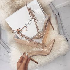 New boot goals 🔥 Shoes: andrea - £49.00 Shop: simmi.com #SIMMIGIRL Lace Up Ankle Boots, High Heel Boots, Heeled Boots, Pretty Shoes, Cute Shoes, Me Too Shoes, High Heels Stilettos, Stiletto Heels, Shoes Heels