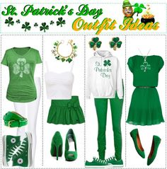 """""""St. Patrick's Day Outfit Ideas"""" by trishaissmiling ❤ liked on Polyvore"""
