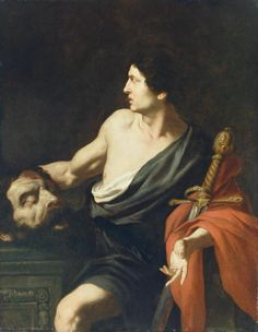 """David with the Head of Goliath,"" ca. 1630, by Pietro Novelli (The Getty Museum, Los Angeles)"