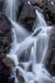 Spring Waterfall, by PhotosbyFlood. Spring Waterfall Upper Yosemite National Park