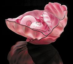 Dale Chihuly glasswork. Beautiful pink glass bowl.