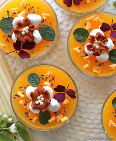 sommerdessert, appelsin, slankedessert Trifle Desserts, Gourmet Desserts, Sweet Desserts, Just Desserts, Delicious Desserts, Dessert Recipes, Yummy Food, Mousse, Cheesecake