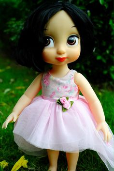 "Rosy blossom dress for Disney animator doll 16"" by malanedoll"
