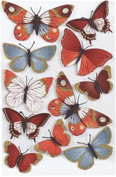 Martha Stewart Elegant Nature Metallic Butterflies Stickers