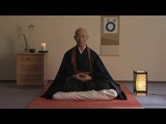 "How to Sit Zazen: Taigen Shodo Harada Roshi. Abbot Sogen-ji zen,  Okayama. Hit ""cc"" button for appropriate sub-titles."