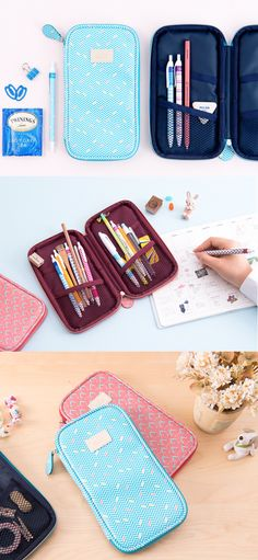 Just when I was getting tired of my dull & boring pencil pouch, I got excited again when I ran into this charming pencil pouch! This adorable pouch is thin and light so it doesn't take much space in your bag. Also, it can be laid flat for easy access to the items inside the pouch. My favorite part is the vibrant patterns! This fun and versatile pouch is great as pencil pouch, make-up pouch and travel pouch too. With all these lovely features, now my heart is set on the Ardium Flat Pattern…
