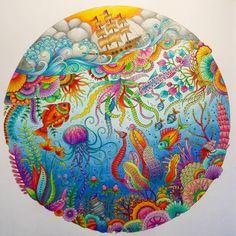 Finished ✏#johannabasford #johannabasfordlostocean #lostocean #coloring #kleurenvoorvolwassenen
