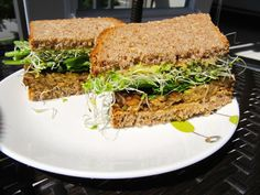 Tempeh Avocado Sprout Sandwich Recipe on Yummly