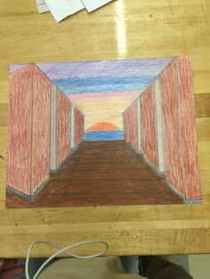 This is my final portal creation. I got my idea of this picture from the seasons and calendar year. As you can see, there is a hallway leading to a beach sunset. The hallway represents the walls of The Prep during the school year. My family spends out summers at the Jersey Shore, so the sunset portrays the Summer.