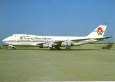 America West Airlines, Boeing 747 I worked a few flights on this bird Phoenix to Honolulu Great Memories