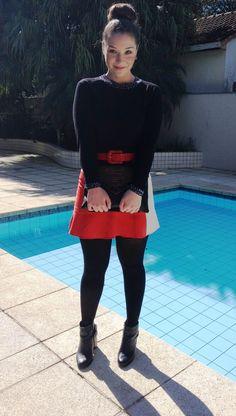 Clor Block Skirt - Charme de Irmãs