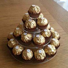 Wedding Party Sweet Display Stand Pyramid 4 Tier Marshmallow Ferrero Rocher