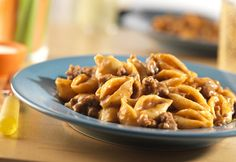 Cheesburger pasta: One of my fav comfort foods, had this for dinner tonight! I use the original recipe- Beef Broth instead of Tomato Soup , 1/2 cup of Ketchup, and 1 1/2 cups of water.    This easy, flavorful, one-skillet supper takes pantry ingredients and combines them to make a delicious dish that's sure to become a family favorite!