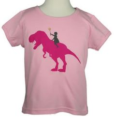 """I'm all for putting my 5-year-old daughter in so-called """"boy"""" dinosaur shirts, though her obsession with pink and all things girlie stomps my efforts...."""
