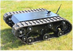 DOIT Tracked Robot Tank Chassis RC Smart Crawler Tank Platform Cross-obstacle Machine with Max Load Arduino, Scooters, Robot Chassis, Rc Track, Nerf Mod, Intelligent Robot, Raspberry Pi, Metal Robot, Rc Robot