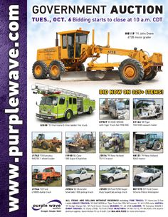 Government Auction October 6, 2015 http://purplewave.com/a/151006