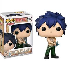 Expand your wizard guild with the characters of Fairy Tail! From the popular anime series comes this Fairy Tail Gray Fullbuster Pop! Vinyl Figure Packaged in a window display box, this Pop! Vinyl figure measures approximately 3 tall. Ages 3 and up. Fairy Tail Gray, Fairy Tail Anime, Pop Vinyl Figures, Anime Pop Figures, Funko Pop Anime, Pop Figurine, Pop Toys, Pop Collection, Anime Figurines